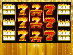 """Golden 7s on Fire"" Slot Game Design"