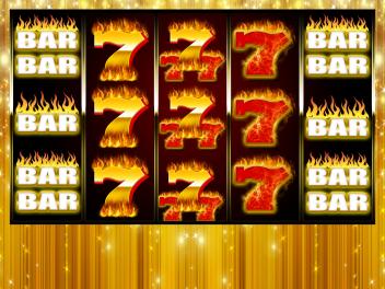 """""""Golden 7s on Fire"""" Slot Game Design"""