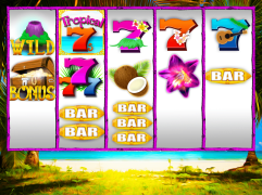 """Tropical 7s"" Slot Game Design"